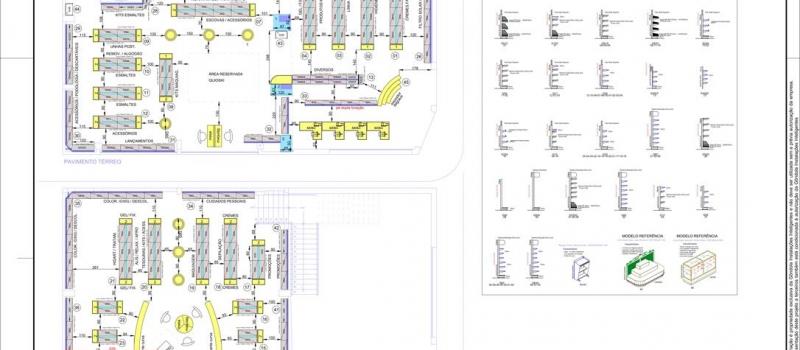 projeto layout loja gondola perfumaria tropical Ricardo Pastore